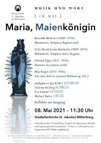 Musik und Wort: Maria, Maienkönigin